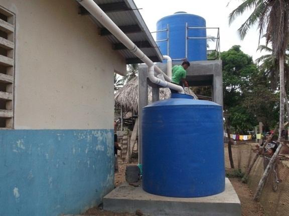Sistema De Cosecha De Agua De Lluvia  En Villa Caleta