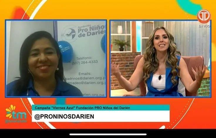"""Entrevista en Medcom, """"promocionando Viernes Azul 2021""""."""